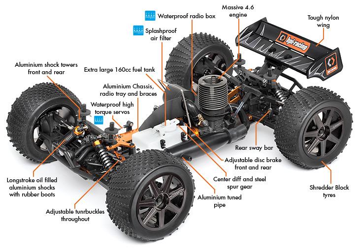 Nitro Rc Car Suspension Parts